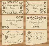 Vintage elementen voor frame of boekomslag, kaart — Stockvector