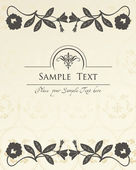 Vintage elements for frame or book cover, card — Stock Vector