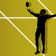 American football player vector - Image vectorielle