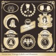 Vintage labels set vector - Image vectorielle