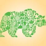 Wild forest bear vector — Stock Vector