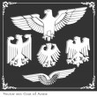 Eagle coat of arms heraldic - Image vectorielle