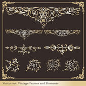 Vintage elements for frame or book cover, card — Cтоковый вектор