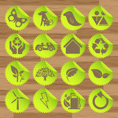 Vectores de iconos del eco verde — Vector de stock