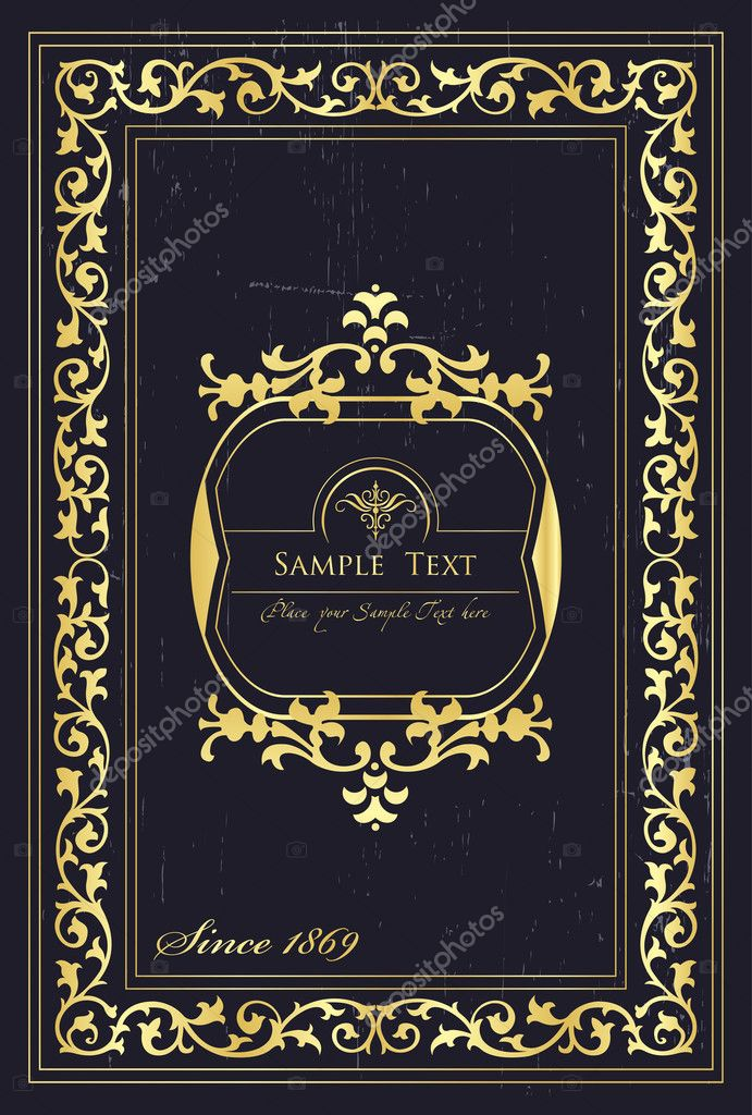 Classic Book Covers Vector ~ Vintage elements for frame or book cover card — stock