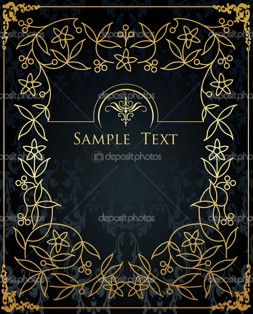 Vintage elements for frame or book cover, card, poster — Stock Vector #4437923
