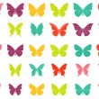 Colorful tropiccal butterfly vectors - Stock Vector