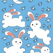 Easter bunny rabbit vector - Stock Vector