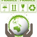 Ecology green planet vector concept background — Stock Vector #4448638