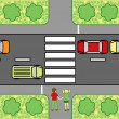 Road crossing school poster — Wektor stockowy #4448759