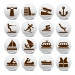 Camping and outdoor icon silhouette illustration set — Stock Vector