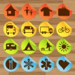 Royalty-Free Stock Vector Image: Camping and outdoor silhouette illustration set