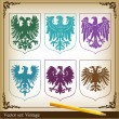 Stock Vector: Eagle coat of arms vector