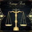 Golden scales vintage background - Imagen vectorial