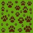Cats, dogs and other pet footprints - Stock Vector