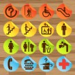 Pictogram icon set for indoor use — Vettoriali Stock