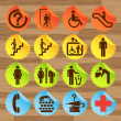 Pictogram icon set for indoor use — Stockvektor