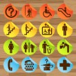 Pictogram icon set for indoor use - Stockvektor