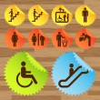 Pictogram icon set for indoor use — Stock Vector