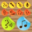 Pictogram icon set for indoor use — Vector de stock #4449322