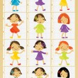 Royalty-Free Stock Vector Image: Group of children set for poster
