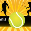 Stock Vector: Tennis player vector