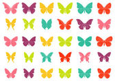 Colorful tropiccal butterfly vectors — Stock Vector
