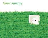 Planeta verde ahorro eco icono — Vector de stock