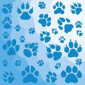 Chats, chiens et autres animaux empreintes — Vecteur