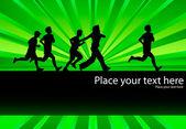 Marathon runners vector — Stock Vector