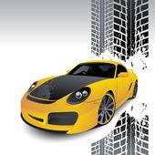 黄色汽车的运动类型 — 图库矢量图片
