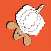 Ilustração de ovelhas — Vetor de Stock