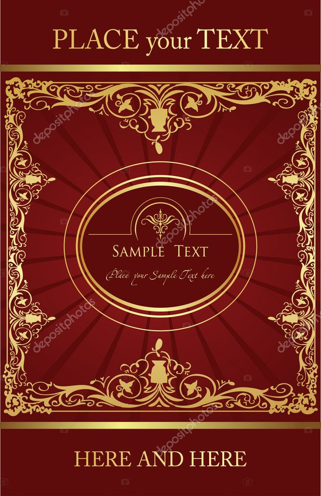 Vintage elements for frame or book cover, card, poster  Stock Vector #4448933