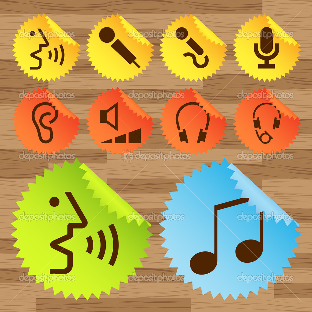 Pictogram icon set for indoor use vector — Stock Vector #4449322