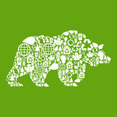 Wild forest bear vector — Stock vektor