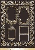 Vintage background vector frame for book or card — Stok Vektör