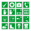 ストックベクタ: Hazard warning, health & safety and public information signs set