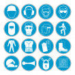 Hazard warning, health & safety and public information signs set — Wektor stockowy