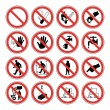 Hazard warning, health & safety and public information signs set — стоковый вектор #4575015