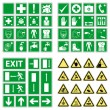 Hazard warning, health & safety and public information signs set — Imagens vectoriais em stock