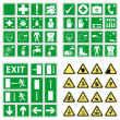 Hazard warning, health & safety and public information signs set — Stockvectorbeeld