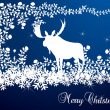 Elk christmas card illustration — Imagen vectorial