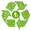 Recycling eco background — Vector de stock