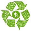 reciclaje eco fondo — Vector de stock