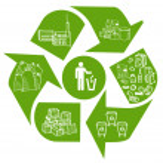 リサイクルの eco の背景 — ストックベクタ