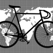 Abstract vintage bicycle background - Imagen vectorial