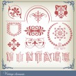 Abstract vintage frame and elements background - Stock Vector