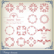 Abstract vintage frame background — Stock Vector