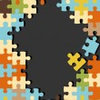 Abstract vintage puzzle background — Imagens vectoriais em stock