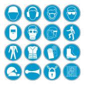 Avertissement de danger, signes de santé et de sécurité et d'information mis en — Vecteur